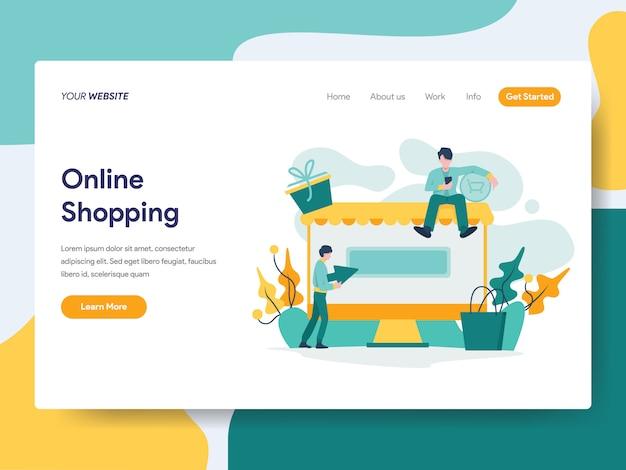 Shopping online per la pagina del sito