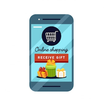 Shopping stile concettuale di business online.
