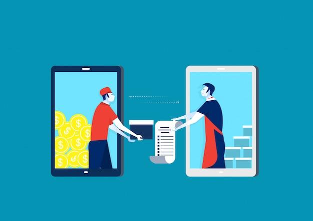 Shopping sul concetto di negozio online