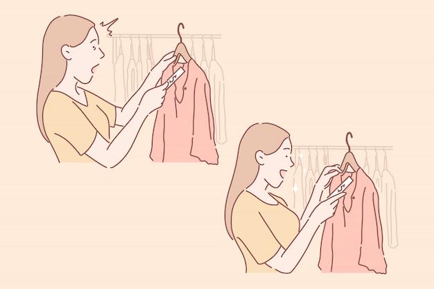 Shopping, vendita, concetto stabilito dell'acquirente