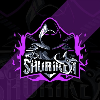 Shuriken mascot logo esport design