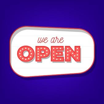 Siamo un concetto di segno aperto