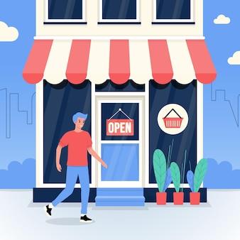 Siamo un concetto di segno di negozio aperto