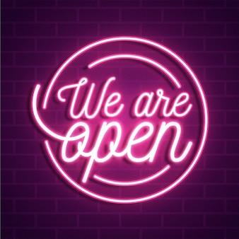 Siamo un'insegna al neon aperta