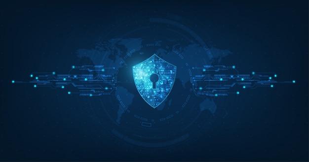 Sicurezza astratta tecnologia digitale background.protection meccanismo e privacy del sistema