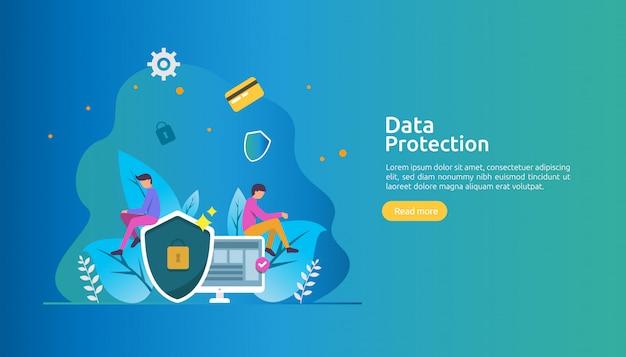 Sicurezza della rete di sicurezza e protezione dei dati riservati con carattere personale