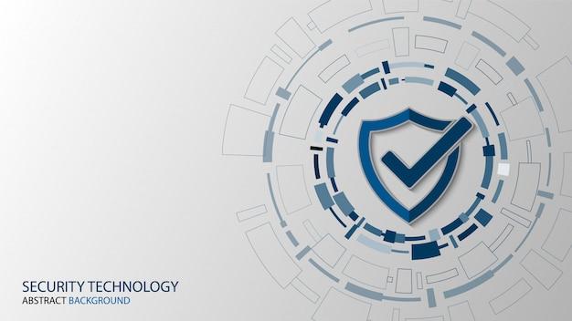 Sicurezza della tecnologia informatica, disegno di sfondo di protezione della rete