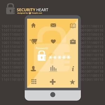 Sicurezza disegno vettoriale telefono