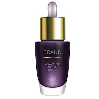 Siero cosmetico di notte per la cura della pelle del viso