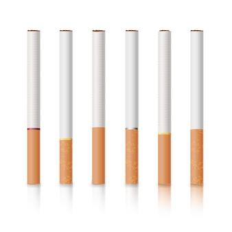 Sigarette classiche con filtri gialli