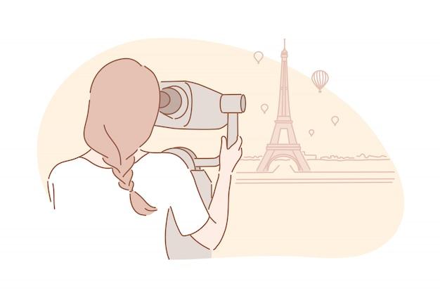 Sightseeng, viaggi, concetto di turismo