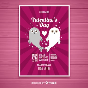 Sigilla il poster di san valentino