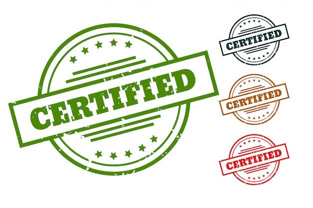 Sigilli di timbro di gomma certificati per prodotti approvati