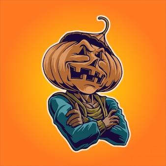 Signor halloween, personaggio di jack-o'-lantern