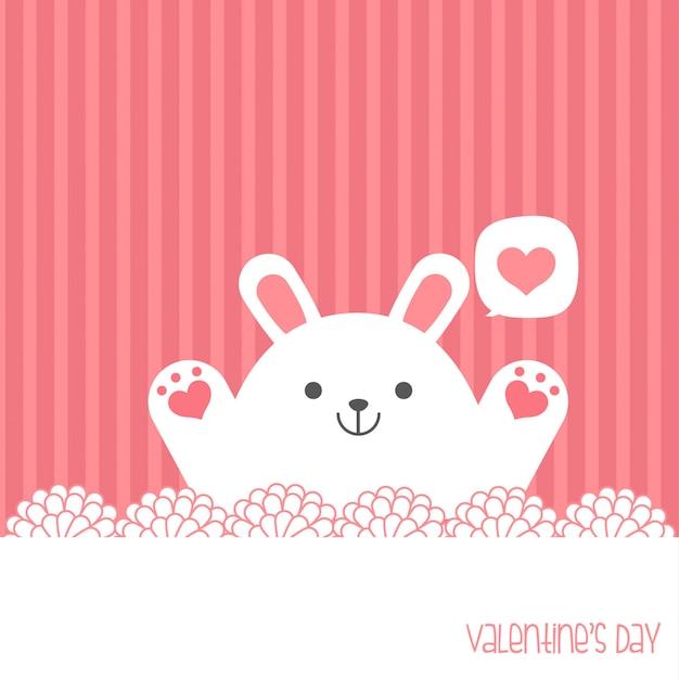 Sii il mio valentino. banner di san valentino, sfondo, flyer, cartello con simpatici animali. manifesto di festa per scrapbooking. vector la carta del modello per il saluto, la decorazione, la congratulazione, l'invito