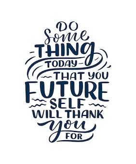 Sii te stesso a scrivere lo slogan. citazione divertente per blog, poster e design di stampa.