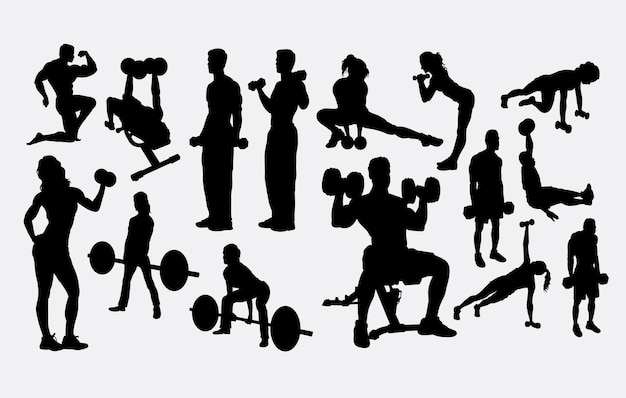 Silhouette di allenamento fitness