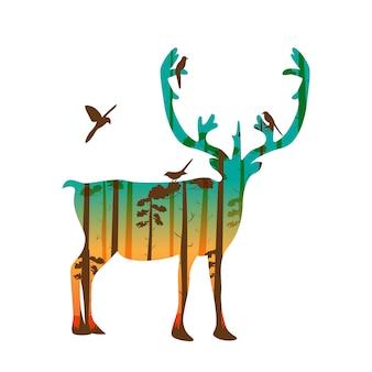 Silhouette di antilope