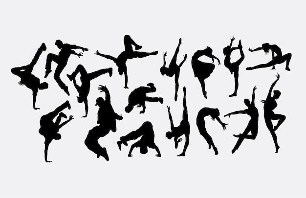 Silhouette di danza moderna