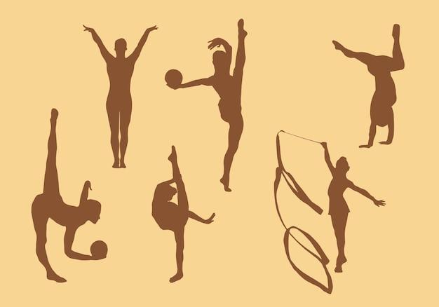Silhouette di ginnastica