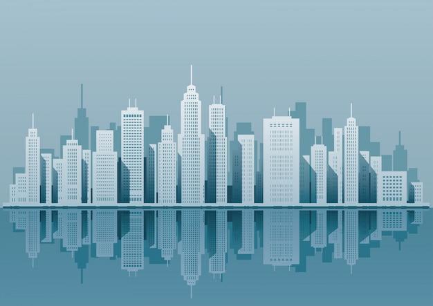 Silhouette di paesaggio urbano