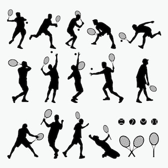 Silhouette di tennis