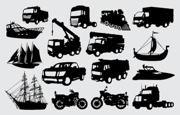 Silhouette di trasporto