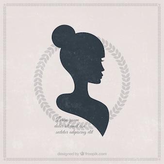 Silhouette di una bella donna