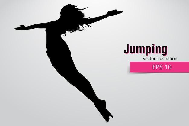 Silhouette di una ragazza che salta