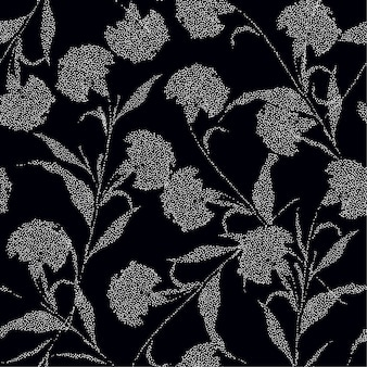 Silhouette fiori di garofano