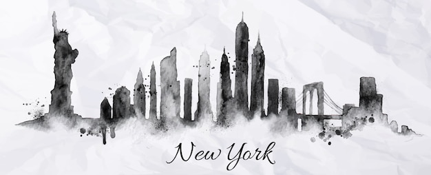 Silhouette new york city