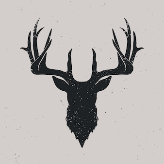 Silhouette testa di cervo