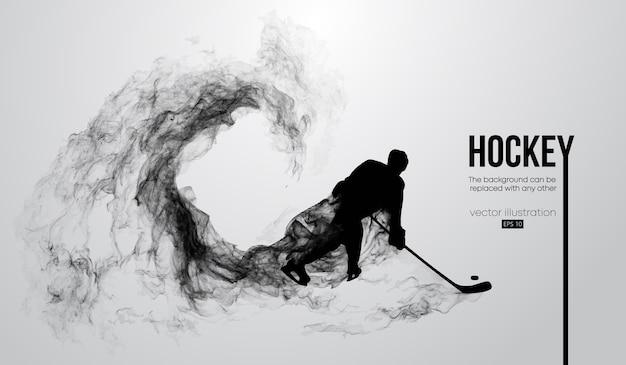 Siluetta astratta di un giocatore di hockey