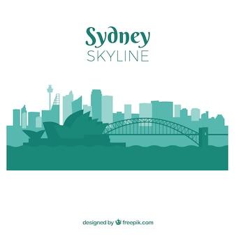 Siluetta dell'orizzonte della città di sydney