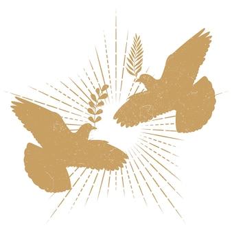 Siluetta di pace della colomba