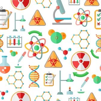 Simboli decorativi decorativi di ricerca del dna di chimica
