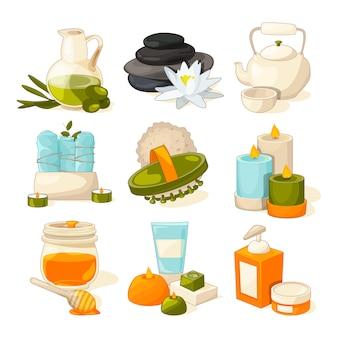 Simboli del salone di massaggio