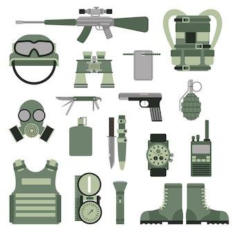 Simboli dell'esercito militare delle truppe usa o nato