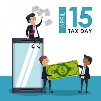 Simboli e cartoni di giorni fiscali