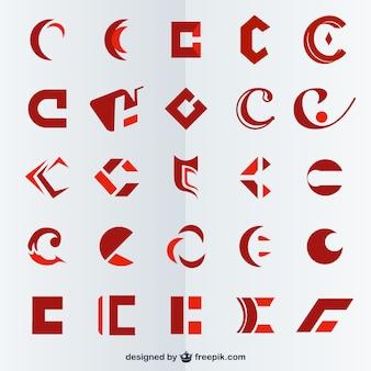 Simboli lettera c vettore