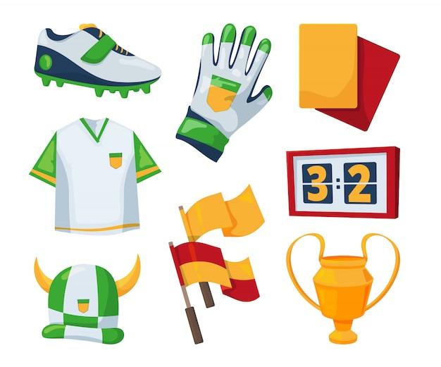 Simboli vettoriali per la competizione di calcio