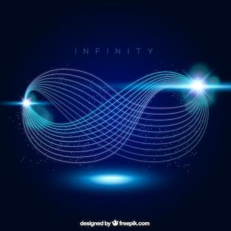 Simbolo bagliore lente infinito