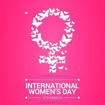 Simbolo costituito og farfalla giorno donna sfondo