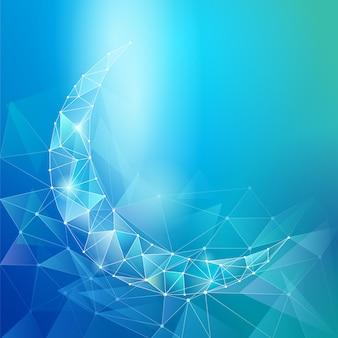 Simbolo crescente geometrico del fondo islamico di progettazione