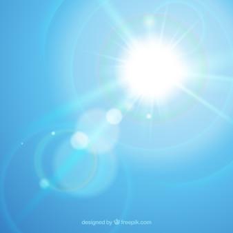Simbolo del chiarore della lente di infinito con il cielo