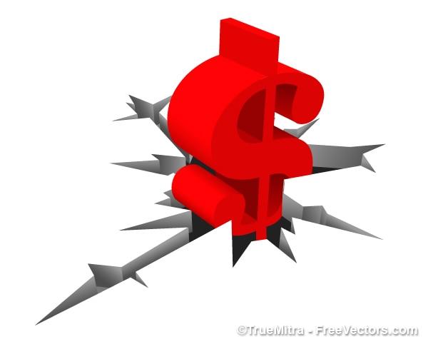 Simbolo del dollaro vettore