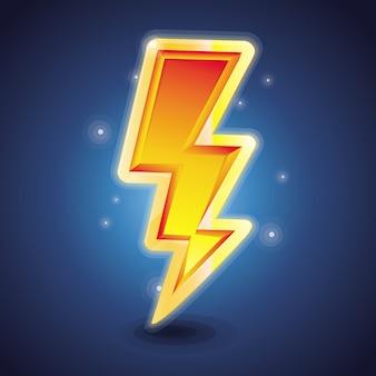 Simbolo del fulmine vettoriale - lucido brillante