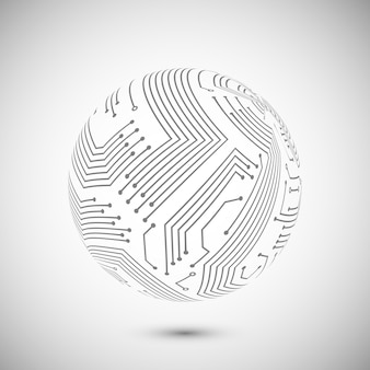Simbolo del globo del circuito stampato