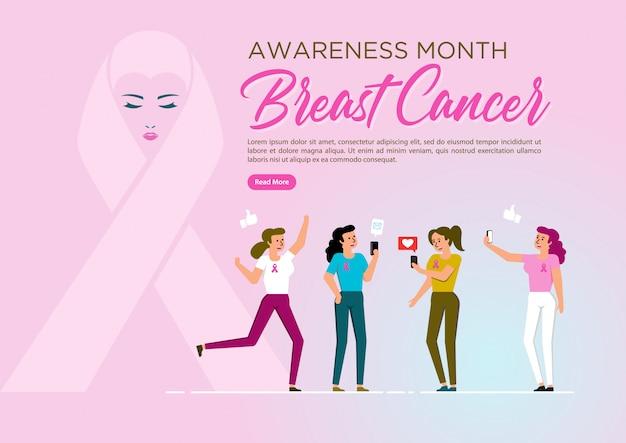 Simbolo del nastro del cancro al seno