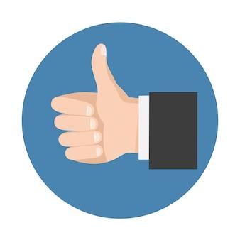 Simbolo del pollice su per social network